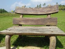 Nice wood chair of sri lankan architecture natural photo stock photo