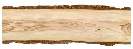 Nice wooden board on white background Royalty Free Stock Images