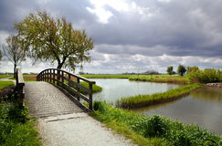 Nice wooden bridge Stock Photo