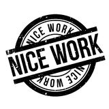 Nice Work rubber stamp Stock Photo