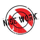 Nice Work rubber stamp Stock Image