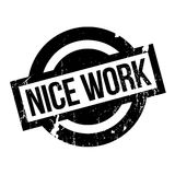 Nice Work rubber stamp Royalty Free Stock Photo