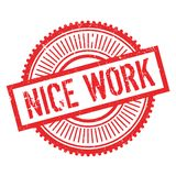 Nice work stamp Royalty Free Stock Photo