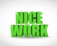 Nice work text illustration design Royalty Free Stock Photography