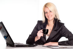 Nice worker at table Royalty Free Stock Photography