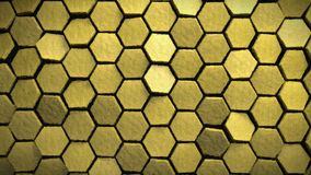 Yellow painting effect hexagons background 3d render. Nice yellow painting effect hexagons background 3d render Stock Illustration
