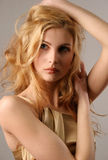 Nice young blond girl Stock Images