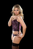 Nice young blonde in lingerie Royalty Free Stock Photography