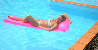 Free Nice Young Girl In The Swimming Pool Royalty Free Stock Photo - 28184065