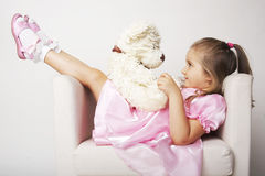 Nice young girl in pink Stock Photos