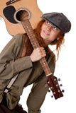 Nice young girl whith guitar Royalty Free Stock Image