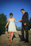 Nice young wedding couple Royalty Free Stock Photos