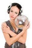 Nice young woman in headphones Stock Image