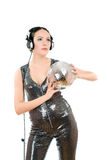 Nice young woman in headphones Royalty Free Stock Image