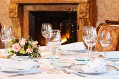 Nicely arranged table Royalty Free Stock Photography