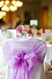 Nicely decorated chair at an event party. Or wedding Royalty Free Stock Images