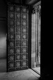 Old style door Stock Images