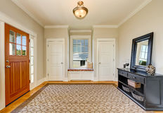 Nicely decorated hallway interior. Stock Images