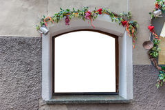 Nicely decorated window Stock Photos