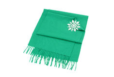 Nicely folded winter scarf with fringe. Stock Images