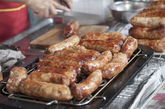 Nicely grilled sausages Royalty Free Stock Photography