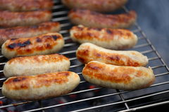 Nicely grilled sausages Royalty Free Stock Image