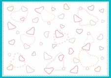 Nicely Hearts Pattern with A Blue Background Royalty Free Stock Photo