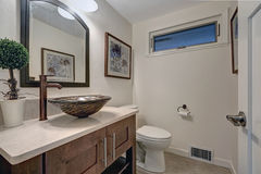 Nicely modernized bathroom interior Royalty Free Stock Images