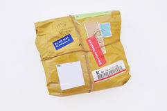 Nicely packaged parcel Royalty Free Stock Photos