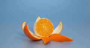 Nicely peeled orange Stock Photography