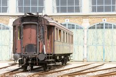 Historical railway passanger car Stock Photography