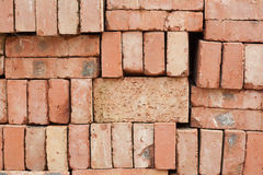 Nicely stacked pile of red bricks Stock Photography