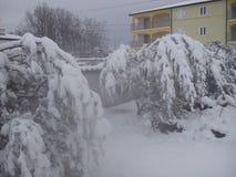 Nicest winter. Snow in Croatia Stock Photos
