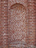 Niche brick. Old niche brick white wite cement royalty free stock images