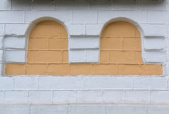 Niche in the form of an arch in the wall of the old church. Architecture Royalty Free Stock Images