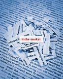 Niche Market. Concept of finding niche market Royalty Free Stock Photos