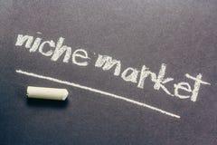 Niche Market. Handwriting on chalkboard Royalty Free Stock Image