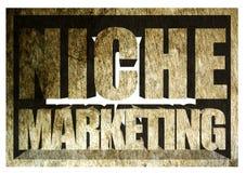 Niche Marketing Concrete Sign Stock Photography