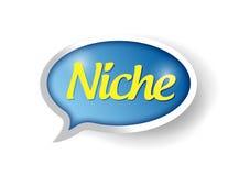 Niche message bubble illustration Stock Image