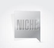 Niche message sign illustration design Stock Photos