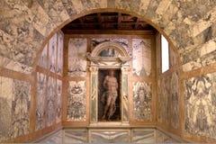 Niche Saint Sebastian, Ca doro, Venice, Italy Stock Photos
