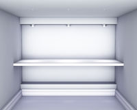 Niche with shelf and spotlights for exhibit Stock Photography
