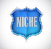 Niche shield illustration design Royalty Free Stock Photos