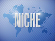 niche sign illustration design Royalty Free Stock Images
