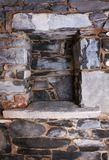 Niche in a stone wall Royalty Free Stock Photography