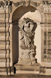 Niche at zwinger, dresden. Sunny  niche with statue of a nymph at a famous baroque palace and  museum  in dresden, the building has been  rebuilt after second Stock Image