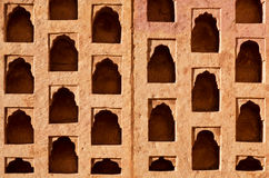 Niches for candles in the wall Royalty Free Stock Photography
