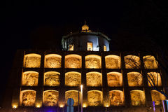 Niches of Serra do Pilar in Vila Nova de Gaia by Night Royalty Free Stock Photography