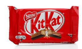 Nichez-vous le bar de chocolat du kit KAT Photographie stock