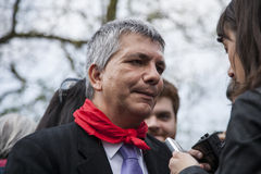 Nichi vendola SEL Präsident Stockfoto